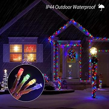 Lichterkette Außen, BIGHOUSE 100 LEDs 10M LED Lichterkette Strom, IP44 Wasserdichte für Schlafzimmer, Garten, Hochzeit, Terrasse, Innen Außen Dekoration - 3