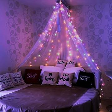 Lichterkette Außen, BIGHOUSE 100 LEDs 10M LED Lichterkette Strom, IP44 Wasserdichte für Schlafzimmer, Garten, Hochzeit, Terrasse, Innen Außen Dekoration - 4