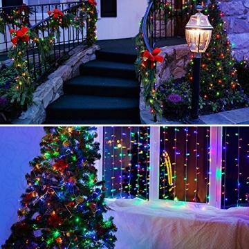 Lichterkette Außen, BIGHOUSE 100 LEDs 10M LED Lichterkette Strom, IP44 Wasserdichte für Schlafzimmer, Garten, Hochzeit, Terrasse, Innen Außen Dekoration - 6