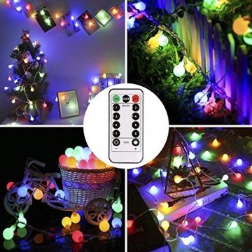 Lichterkette strombetrieben B-right 100 LED Globe Lichterkette, Lichterkette bunt, Innen- Außen Lichterkette glühbirne Fernbedienung,Weihnachtsbeleuchtung für Weihnachten Hochzeit Party Weihnachtsbaum - 2