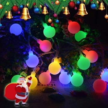Lichterkette strombetrieben B-right 100 LED Globe Lichterkette, Lichterkette bunt, Innen- Außen Lichterkette glühbirne Fernbedienung,Weihnachtsbeleuchtung für Weihnachten Hochzeit Party Weihnachtsbaum - 5