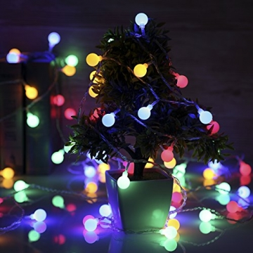 Lichterkette strombetrieben B-right 100 LED Globe Lichterkette, Lichterkette bunt, Innen- Außen Lichterkette glühbirne Fernbedienung,Weihnachtsbeleuchtung für Weihnachten Hochzeit Party Weihnachtsbaum - 7