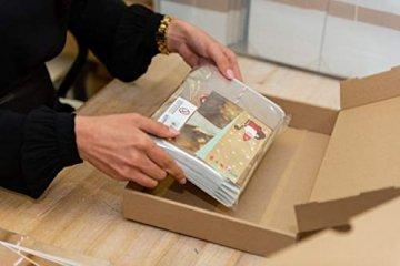 Logbuch-Verlag 24 kleine Engel Weihnachtsanhänger aus Holz natur gold - natürliche Weihnachtsdeko zum Aufhängen - Holzengel als Christbaumanhänger Geschenkanhänger 5 cm - 2