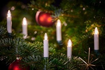 Lumix KRINNER Superlight Flame 6er Erweiterungs-Set kabellose LED Christbaumkerzen, Kunststoff, Elfenbein, 9 cm - 6