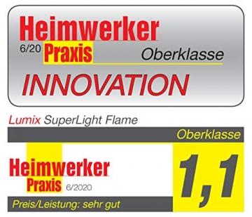 Lumix KRINNER Superlight Flame12er Basis-Set kabellose LED Christbaumkerzen, Kunststoff, Elfenbein, 9 cm - 8
