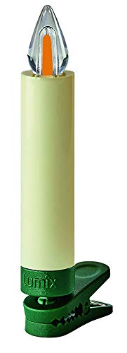 Lumix KRINNER Superlight Flame12er Basis-Set kabellose LED Christbaumkerzen, Kunststoff, Elfenbein, 9 cm - 10