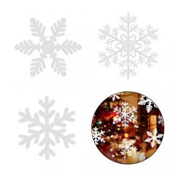 Lynlon 108 Fensterdeko Schneeflocken Schneeflocken Fensterbilder Abnehmbare Fensterdeko Statisch Haftende PVC Aufkleber für Weihnachts-Fenster Dekoration, Türen,Schaufenster, Vitrinen, Glasfronten - 3