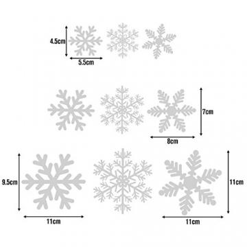 Lynlon 108 Fensterdeko Schneeflocken Schneeflocken Fensterbilder Abnehmbare Fensterdeko Statisch Haftende PVC Aufkleber für Weihnachts-Fenster Dekoration, Türen,Schaufenster, Vitrinen, Glasfronten - 4