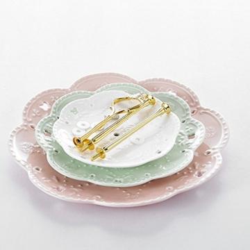 MALACASA, Serie Sweet.Time, Porzellan Etagere 3-stöckig 6/8/10,5 Zoll Etagere (3 Frabe) - 2
