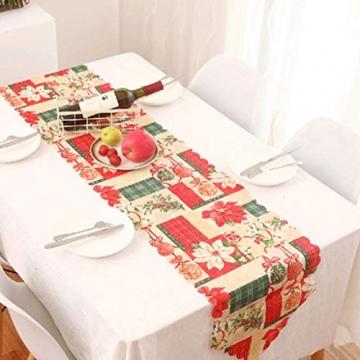 MissZZ Weihnachten bestickter Tisch Weihnachtstischwäsche für Weihnachtsdekorationen 178 * 35cm / 70 * 14in B. - 2