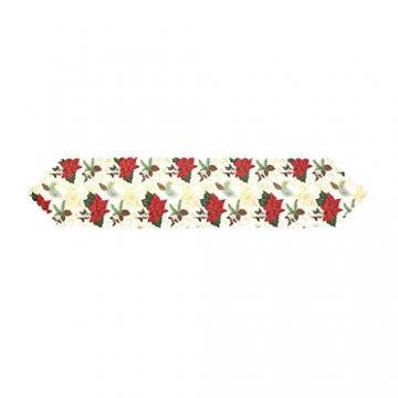MissZZ Weihnachten bestickter Tisch Weihnachtstischwäsche für Weihnachtsdekorationen 178 * 35cm / 70 * 14in B. - 5