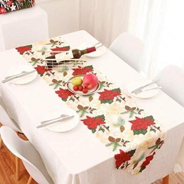 MissZZ Weihnachten bestickter Tisch Weihnachtstischwäsche für Weihnachtsdekorationen 178 * 35cm / 70 * 14in B. - 6