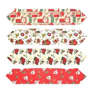 MissZZ Weihnachten bestickter Tisch Weihnachtstischwäsche für Weihnachtsdekorationen 178 * 35cm / 70 * 14in B. - 7
