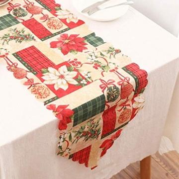 MissZZ Weihnachten bestickter Tisch Weihnachtstischwäsche für Weihnachtsdekorationen 178 * 35cm / 70 * 14in B. - 8