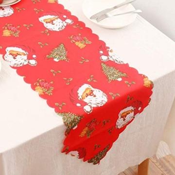 MissZZ Weihnachten bestickter Tisch Weihnachtstischwäsche für Weihnachtsdekorationen 178 * 35cm / 70 * 14in B. - 9