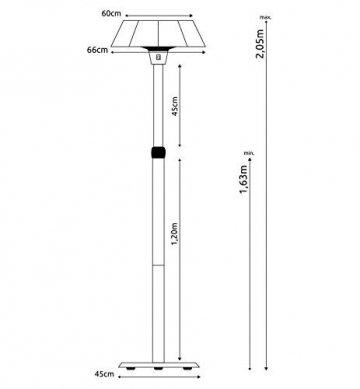 MyMaxxi   Infrarot Heizstrahler Terrasse stehend 2100W elektrisch   höhenverstellbar und 3 Heizstufen   Outdoor stand heater   Terrassenstrahler mit Standfuß für Draußen   Quarzstrahler - 5