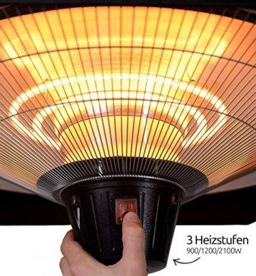 MyMaxxi   Infrarot Heizstrahler Terrasse stehend 2100W elektrisch   höhenverstellbar und 3 Heizstufen   Outdoor stand heater   Terrassenstrahler mit Standfuß für Draußen   Quarzstrahler - 8