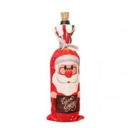 #N/V Weihnachtliches Rotweinflaschenhalter-Abdeckung, Tasche, Elfe, Champagner, Rotweinflaschen, Dekoration, Weihnachtstischdekoration - 1