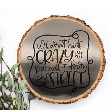 NANMOO 16 Stücke Rund Natur Holzscheiben, 9-10cm Baumscheiben Ca.10mm Dicke, Holz Log Scheiben mit Baumrinde Unbehandeltes ohne Loch für DIY Handwerk Dekoration, Basteln, Hochzeit, Weihnachten Deko - 7