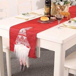 Nwn Weihnachten Tischläufer 3D-Weihnachtsmann Reusable Tischdecke Tischset Weihnachtsdekoration, 70.86 * 12.99 in (Color : Red) - 1