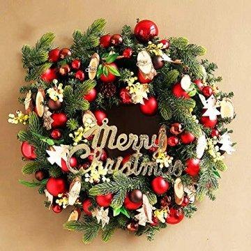 O-Kinee Weihnachtskugeln Rot, 24 Stücke Christbaumkugeln Kunststoff, Kugeln Weihnachtsdeko, Weihnachtsbaumschmuck Set, Weihnachtsbaum Deko & Christbaumschmuck, 4CM - 5