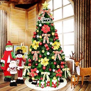 O-Kinee Weihnachtskugeln Rot, 24 Stücke Christbaumkugeln Kunststoff, Kugeln Weihnachtsdeko, Weihnachtsbaumschmuck Set, Weihnachtsbaum Deko & Christbaumschmuck, 4CM - 6