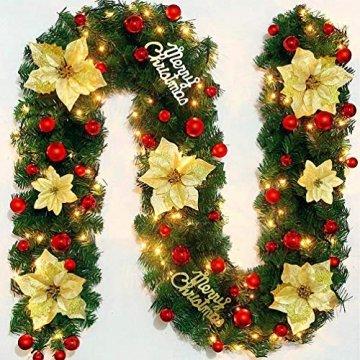 O-Kinee Weihnachtskugeln Rot, 24 Stücke Christbaumkugeln Kunststoff, Kugeln Weihnachtsdeko, Weihnachtsbaumschmuck Set, Weihnachtsbaum Deko & Christbaumschmuck, 4CM - 7