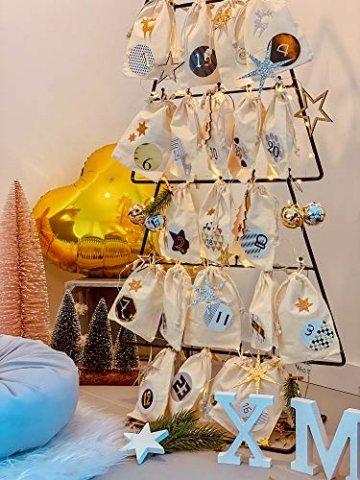 Oblique-Unique® 10 Stück Natur Holz Engel oder Weihnachtsbaum Anhänger mit Schnur als Christbaumschmuck Baumschmuck Christbaumanhänger Geschenkanhänger - Weihnachts Deko (Engel 10er Set) - 6