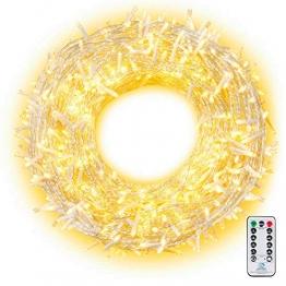 Ollny 800 LED Lichterkette 100M LED Lichterkette Außen Wasserdicht Lichterkette Strombetrieben mit Fernbedienung & Timer, 8 Modi Warmweiß Lichterkette Außen Innen für Weihnachten, Party, Hochzeit - 1