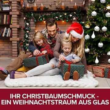 Pure Living Weihnachtskugeln Glas im wunderschönen Handwerk-Design - 24-tlg. Set mit exklusiven Christbaumkugeln Glas - Weihnachtsbaumkugeln in EU Premium-Qualität - Einzigartig-festlicher Baumschmuck - 6