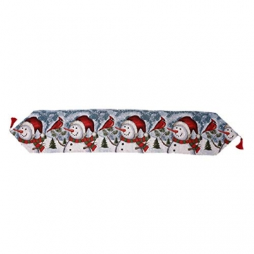 Qlans Weihnachtstischläufer, Weihnachtstischwäsche Home Tischdecke für Weihnachtsdekoration - 5 Stile - 2