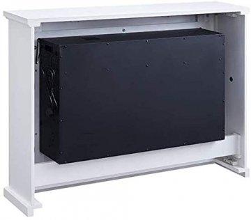 RICHEN Elektrokamin Argon - Elektrischer Standkamin Mit Heizung, LED-Beleuchtung, 3D-Flammeneffekt & Fernbedienung - Weiß - 6