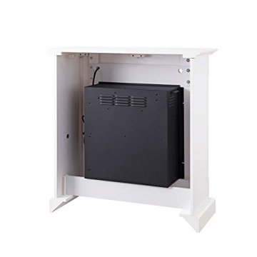 RICHEN Elektrokamin Ladina - Elektrischer Standkamin Mit Heizung, LED-Beleuchtung, 3D-Flammeneffekt & Fernbedienung - Weiß - 6