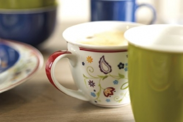 Ritzenhoff & Breker Kaffeeservice Doppio Shanti, 12-teilig, Porzellangeschirr, Grün - 3