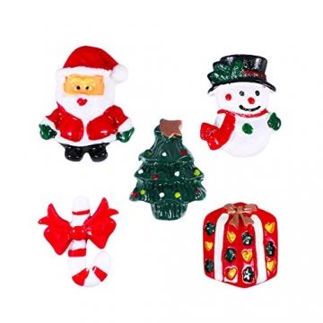 ROSENICE Figuren Deko Weihnachten Tischdeko Weihnachtsmannfigur Schneemannfigur Weihnachtsbaum Figuren Geschenke Miniatur Verzierungen DIY Zusätze 15pcs - 2