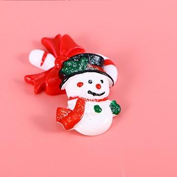 ROSENICE Figuren Deko Weihnachten Tischdeko Weihnachtsmannfigur Schneemannfigur Weihnachtsbaum Figuren Geschenke Miniatur Verzierungen DIY Zusätze 15pcs - 3