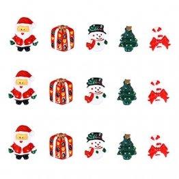 ROSENICE Figuren Deko Weihnachten Tischdeko Weihnachtsmannfigur Schneemannfigur Weihnachtsbaum Figuren Geschenke Miniatur Verzierungen DIY Zusätze 15pcs - 1