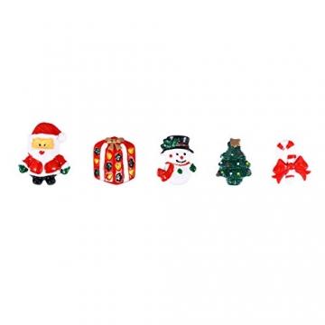 ROSENICE Figuren Deko Weihnachten Tischdeko Weihnachtsmannfigur Schneemannfigur Weihnachtsbaum Figuren Geschenke Miniatur Verzierungen DIY Zusätze 15pcs - 4