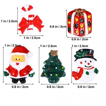 ROSENICE Figuren Deko Weihnachten Tischdeko Weihnachtsmannfigur Schneemannfigur Weihnachtsbaum Figuren Geschenke Miniatur Verzierungen DIY Zusätze 15pcs - 5