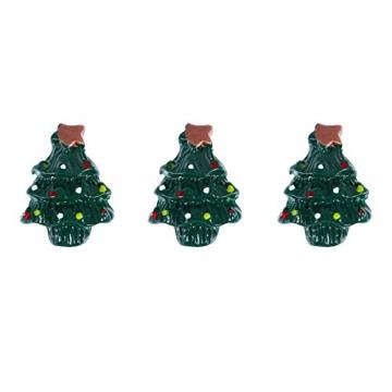 ROSENICE Figuren Deko Weihnachten Tischdeko Weihnachtsmannfigur Schneemannfigur Weihnachtsbaum Figuren Geschenke Miniatur Verzierungen DIY Zusätze 15pcs - 6