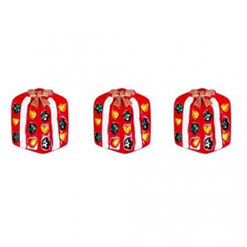 ROSENICE Figuren Deko Weihnachten Tischdeko Weihnachtsmannfigur Schneemannfigur Weihnachtsbaum Figuren Geschenke Miniatur Verzierungen DIY Zusätze 15pcs - 7