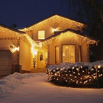 SALCAR 23m 360er LED Lichterkette Niedervolt wasserdichte dekorative Leuchten LED String Licht Wünderschöne Deko für Weihnachten, Hochzeit, Zuhause, Garten, Balkon, Terrasse - Warmweiß - 3