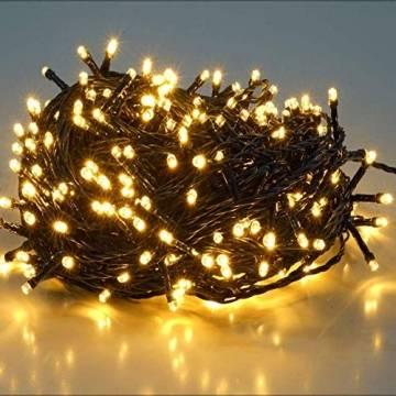 SALCAR 23m 360er LED Lichterkette Niedervolt wasserdichte dekorative Leuchten LED String Licht Wünderschöne Deko für Weihnachten, Hochzeit, Zuhause, Garten, Balkon, Terrasse - Warmweiß - 1