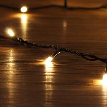 SALCAR 23m 360er LED Lichterkette Niedervolt wasserdichte dekorative Leuchten LED String Licht Wünderschöne Deko für Weihnachten, Hochzeit, Zuhause, Garten, Balkon, Terrasse - Warmweiß - 5