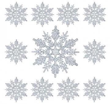 Schneeflocken Weihnachtsbaumschmuck Set,Weihnachtsbaum Anhänger,Schneeflocke Weihnachtsbaum Hängende Ornamente Schneeflocke Weihnachtsbaumschmuck Weihnachtsdeko (B) - 3