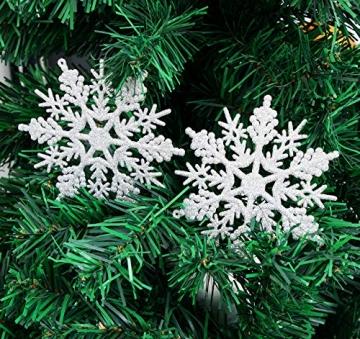 Schneeflocken Weihnachtsbaumschmuck Set,Weihnachtsbaum Anhänger,Schneeflocke Weihnachtsbaum Hängende Ornamente Schneeflocke Weihnachtsbaumschmuck Weihnachtsdeko (B) - 7