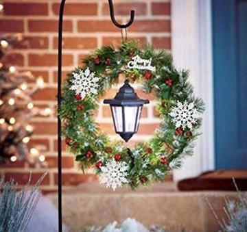 Schneeflocken Weihnachtsbaumschmuck Set,Weihnachtsbaum Anhänger,Schneeflocke Weihnachtsbaum Hängende Ornamente Schneeflocke Weihnachtsbaumschmuck Weihnachtsdeko (B) - 8