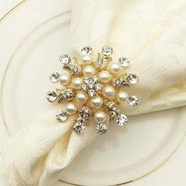 SCTD Serviettenringe mit Hirsch-Motiv, aus Metall, für Hotel, Restaurant, Hochzeit, Party, eine schöne Ergänzung zu Ihrer Weihnachts-Tischdekoration, 6er-Set - 1