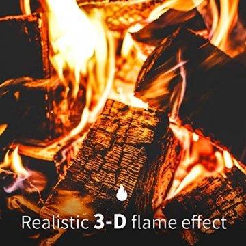 Sekey Home Elektrokamin | Deko-Kamin | Wandkamin mit Heizlüfter | Thermostat | Wochentimer | LED-Beleuchtung | 3D Flammeneffekte | 7 Flammenfarben | Fernbedienung | Geräuscharm | Wandmontage | Schwarz - 7