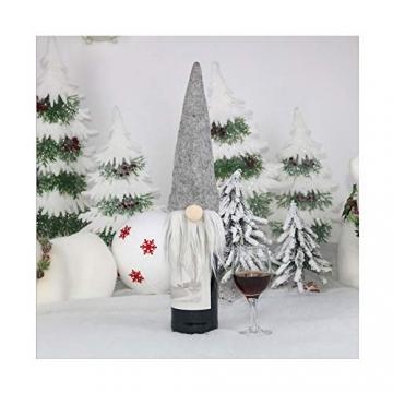 SENLUO Weinflaschen-Abdeckung, klassische gesichtslose Weihnachtsmann-Geschenktüten, aktualisierte Weihnachtstischdekoration für Urlaubsparty-Dekoration (3 verschiedene Farben) - 11